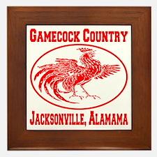 gamecock_country_ellipse_red Framed Tile