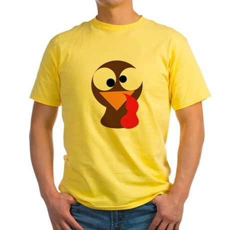 Funny Turkey Thanksgiving Face Yellow T-Shirt