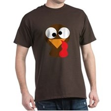 Funny Turkey Thanksgiving Face T-Shirt
