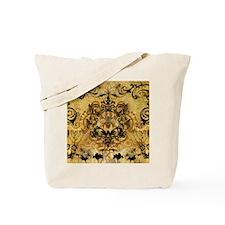 BeeFloralGoldKduvet Tote Bag