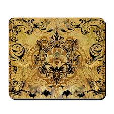 BeeFloralGoldKduvet Mousepad