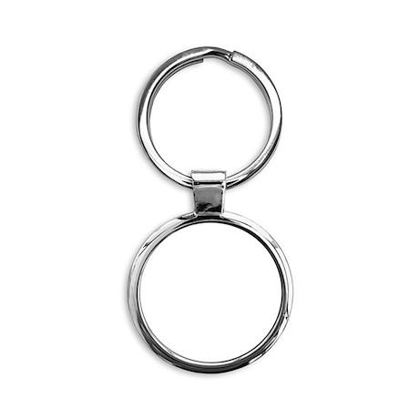Leafy Cafe qr white Round Keychain