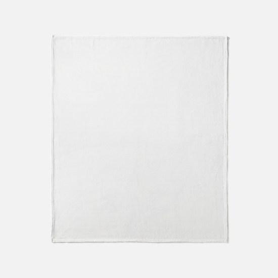 Okinawa-ken (flat) white Throw Blanket