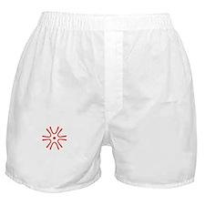 Saga-ken (flat) white Boxer Shorts