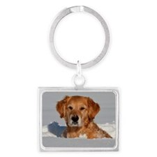 Golden Retriever 2 Landscape Keychain