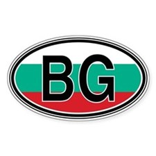 Bulgaria Euro Oval Decal