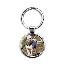 Pit Bull 5 Round Keychain