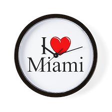"""""""I Love Miami"""" Wall Clock"""