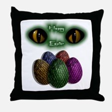 happyeaster Throw Pillow