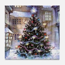 Lovely Old Fashioned Christmas Tile Coaster