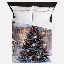 Lovely Old Fashioned Christmas Queen Duvet