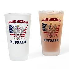 Buffalo New York Polish Drinking Glass