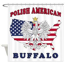 Buffalo New York Polish Shower Curtain