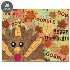 Gooble! Gooble!  Gooble!  Happy Thanksgivin Puzzle