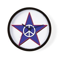Peace Star Wall Clock