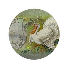 """Greetings of Thanksgiving 3.5"""" Button"""