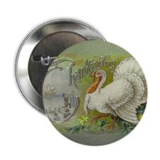 "Greetings of Thanksgiving 2.25"" Button"