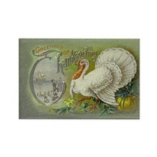 Greetings of Thanksgiving Rectangle Magnet