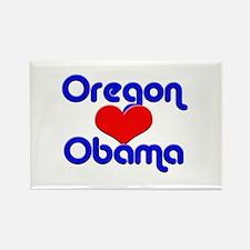 Oregon for Obama Rectangle Magnet