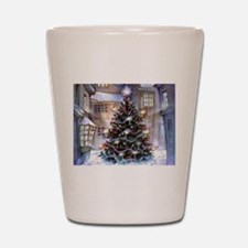 Lovely Old Fashioned Christmas Shot Glass