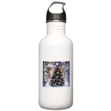 Lovely Old Fashioned Christmas Water Bottle