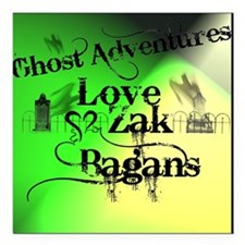 "Ghost Adventures4 Square Car Magnet 3"" x 3"""