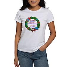 Longhorn Santa - Merry Christmas Yall! T-Shirt