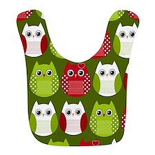 Retro Christmas Owl Bib