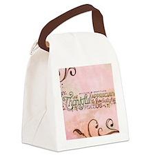 Attitude of Graditude Canvas Lunch Bag