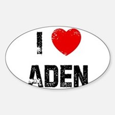 I * Aden Oval Decal