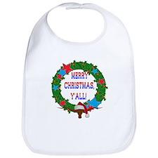 Longhorn Santa - Merry Christmas Yall! Bib
