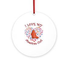Love My Curl Ornament (Round)