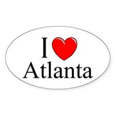 """I Love Atlanta"" Oval Decal"