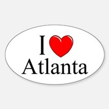 """I Love Atlanta"" Oval Decal"