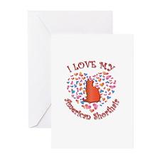 Love My Shorthair Greeting Cards (Pk of 10)