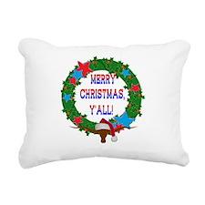Longhorn Santa - Merry Christmas Yall! Rectangular