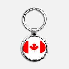 Canada Curling Round Keychain