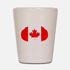 Canada Curling Shot Glass