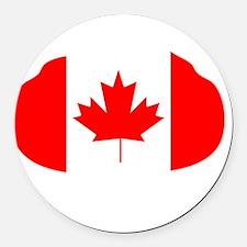 Canada Curling Round Car Magnet