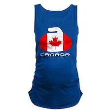 Canada Curling Maternity Tank Top