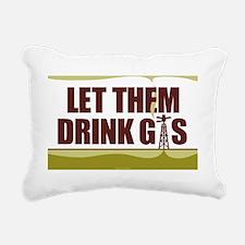 No Fracking - Let Them D Rectangular Canvas Pillow
