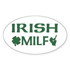 Irish MILF Oval Decal