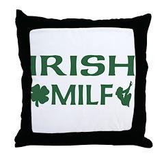 Irish MILF Throw Pillow