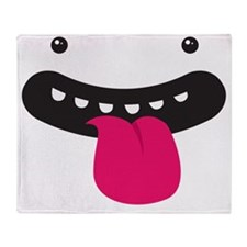 monster big face Throw Blanket