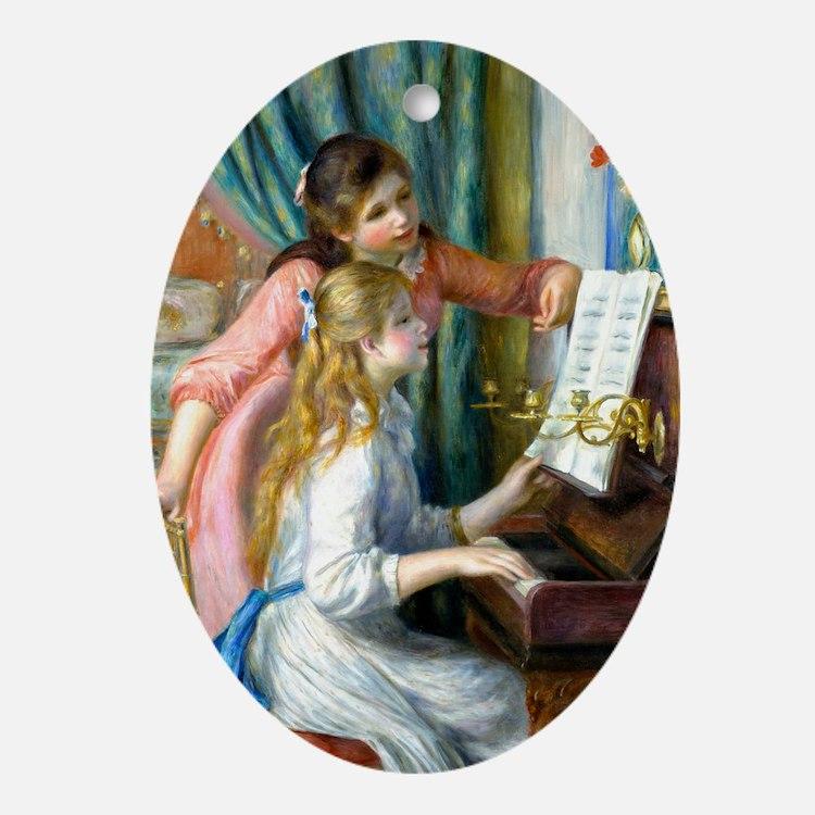 GC Renoir Piano Oval Ornament