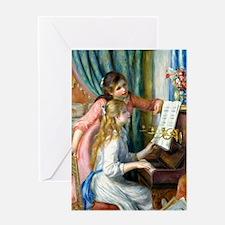 iPad Renoir Piano Greeting Card