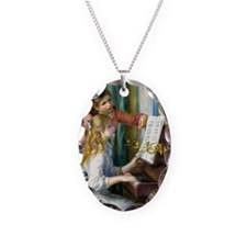 K/N Renoir Piano Necklace Oval Charm