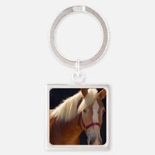 Sunlit Horse Square Keychain