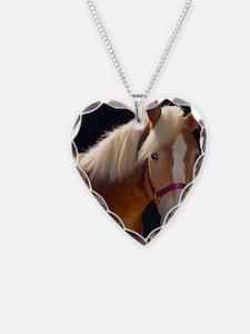 Sunlit Horse Necklace