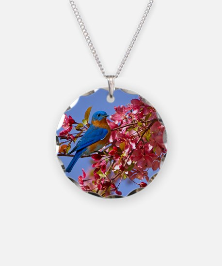 Bluebird in Blossoms Necklace